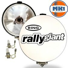 "Ring Rally Giant 12v 7"" inch 4x4 Round Driving Halogen Spot Lamps Lights+Covers"