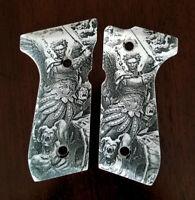 Beretta 92 92FS 96 custom engraved ivory scrimshaw grips Archangel Michael