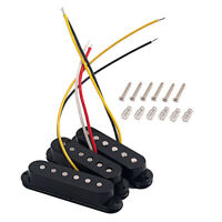 SSS Alnico V Guitar Neck Bridge Middle Pickup Sets for ST Strat Part Single Coil