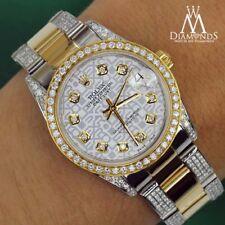 Women's 31mm Rolex Oyster Perpetual Datejust Custom White Jubilee Diamonds Dial