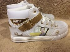 Skechers Star Wars Rey White Gold Hi Top Sneakers Athletic Shoe Kids US5 (EU37)
