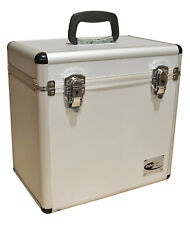 "12"" LP Vinyl Record Aluminium DJ Flight Carry Case Silver Holds 50 Tough Strong"