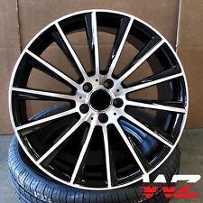 20 Twist Spoke AMG Style Wheels fits Mercedes Black Machined CLK Class 550 300