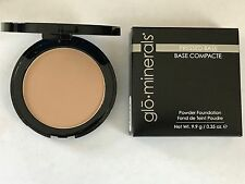 Glominerals Pressed Base Powder Foundation Compact Honey Medium
