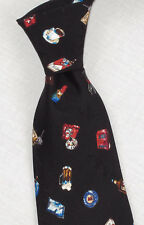 "NWT VTG 1994 Nicole Miller 4"" Boys Night Out/ Party Themed Wide Silk Tie"