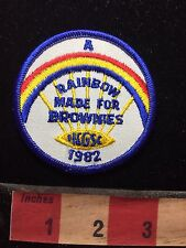 Vtg 1982 A RAINBOW MADE FOR BROWIES Girl Scout Patch C76M