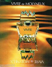PUBLICITE ADVERTISING 065  1980  MOLYNEUX  parfum VIVRE femme