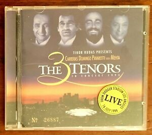THE 3 TENORS In Concert 1994 (CD) No: 26887 MINT DISC Carreras-Domingo-Pavarotti