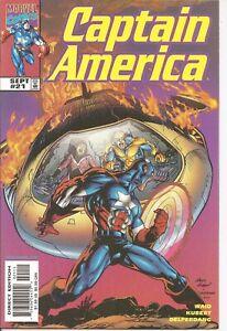 °CAPTAIN AMERICA Vol 3 #21 SOUNDQUAKE Part 1 von 3° US Marvel 1999 M. Waid