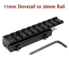 11mm to 20mm Dovetail Weaver Picatinny Rail Adapter Converter Mount Scope Base N