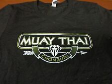 CHONBURI  MUAY THAI BOXER  FIGHTING TRAINING MMA Womens Black T-Shirt  Small  R3