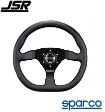 Sparco L 360 Steering Wheel 3-Spoke Race Style Black Leather PN: 015TRGL1TUV