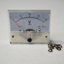 UPDATED DC 0-20V Analog Panel Volt Voltage Meter Voltmeter Gauge 85C1