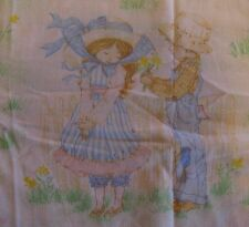Miss Petticoat Twin Size Fitted Bed Sheet Fabric Vtg Muslin Roth International