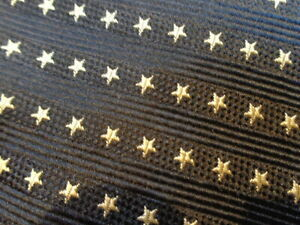 VINTAGE TOMMY HILFIGER ~ MENS SILK DRESS SHIRT SUIT TIE ~ NAVY BLUE SILVER STARS