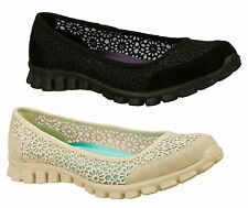 Patternless Memory Foam Textile Trainers for Women