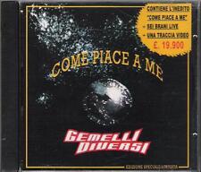 """GEMELLI DIVERSI - RARO CD FUORI CATALOGO """" COME PIACE A ME """" LIVE+VIDEO"""