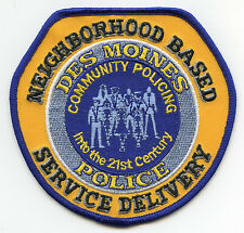 DES MOINES IOWA IA COMMUNITY POLICING POLICE PATCH