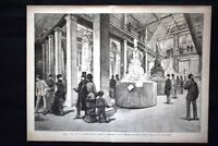 Roma - Esposizione del Monumento a Vittorio Emanuele Incisione del 1882