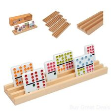 Domino Racks Tile Game Trays Holder Dominoes Mexican Train Chickenfoot Play Kids