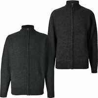 Mens Ex Highstreet Cable Weave Knit M&S Textured Zipped Cardigan Jumper New