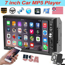 "7"" 2Din Car Stereo MP5 Player FM Radio Touch Screen Bluetooth TF/USB/AUX+Camera"