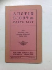 NOS Austin Eight (AS.1)  Parts List Dated January 1946