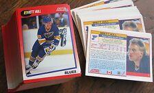 1991-1992 Score #1 Brett Hull (St Louis Blues) Bilingual (LOT of 111 Cards!)