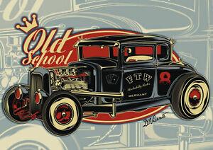 Retro Aufkleber Old School Folie Motorcycles Sticker Race Retro Vintage #5