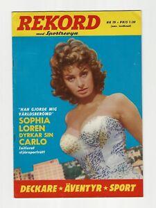REKORD #19 - 1967 - SOPHIA LOREN COVER - Beautiful condition