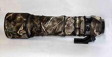 Lente Tamron SP150-600mm f5.63 VC USD Cubierta con Cubierta de tubo de zoom neopreno camuflaje.