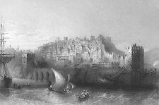 Turkey, ALANYA ALAIYE HARBOR MEDITERRANEAN SEA TAURUS ~ 1838 Art Print Engraving