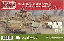 Plastic Soldier 1/72 Valentine Infantry Tanks (3 Fast Assembly Tanks)