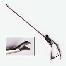 Needle Holder For Laparoscopic Laparoscopy Gun Style Curved Tip Instruments