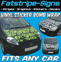 PEUGEOT 106 107 206 VINYL STICKER BOMB BONNET WRAP CAR GRAPHICS DECALS STICKERS
