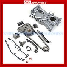 NEW Timing Cover Chain Kit + Oil Pump for 91-99 NISSAN SENTRA 200SX 1.6L GA16DE