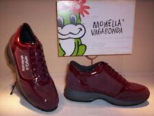 Scarpe sportive sneakers Monella Vagabonda donna casual pelle camoscio bordò 36
