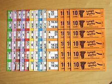 300 BINGO BOOKS (50 strips of 6) 10 game Jumbo Tickets cards club pub cards