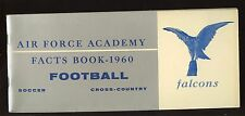 1960 NCAA Soccer & Cross Country Air Force Academy Media Guide EXMT