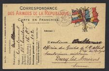 FRANCE 1915 ARMEES DE LA REPUBLIQUE MILITARY PC FROM A LIEUTENANT IN SECTOR 102