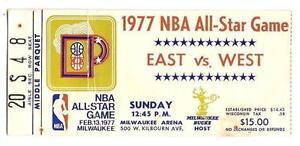 1977 NBA All Star Game Ticket STub Milwaukee Bucks
