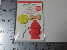 DOODLEBUG PUPPY PLAY MINI DOODLE POPS CARDSTOCK DIMENSIONAL STICKER A4204