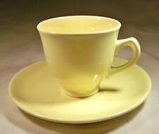 TAYLOR SMITH & TAYLOR LURAY PASTELS YELLOW DEMITASSE CUP & SAUCER MADE IN USA!