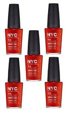 LOT OF 5 -NYC In A New York Color Minute Quick Dry Nail Polish 221 Spring Street
