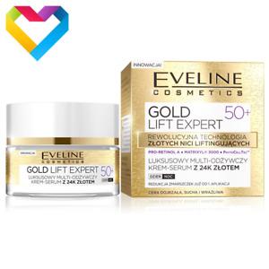 Eveline Gold Lift Expert 50+ Luxurious Nourishing Cream Serum Mature Skin 50ml