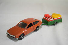 MERCURY GIFT SET ALFA ROMEO ALFETTA GT BROWN WITH TRAILER HOLIDAY SELTEN RARO