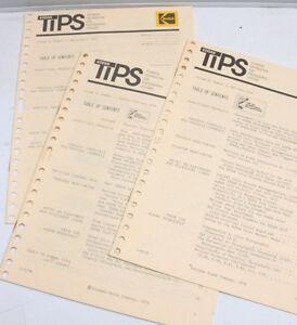 Kodak TIPS Tech Info Photo Systems Vol 9 No 1 2 3 1978 - English - USED B113F