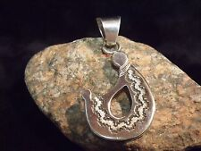 """GARY S. CUSTER  ARTISAN MOTHER AND CHILD  2 1/2"""" STERLING PENDANT 19.2 GRAMS"""