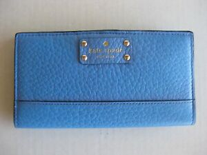 NEW! KATE SPADE STACY BIFOLD LEATHER WALLET BLUE OR PURPLE - NEW WITH TAGS