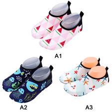 Kids Boys Girls Soft Skin Aqua Socks Shoes Beach Swim Exercise Water Footwear